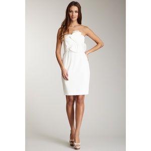 Nordstrom Muse White Strapless Bow Dress